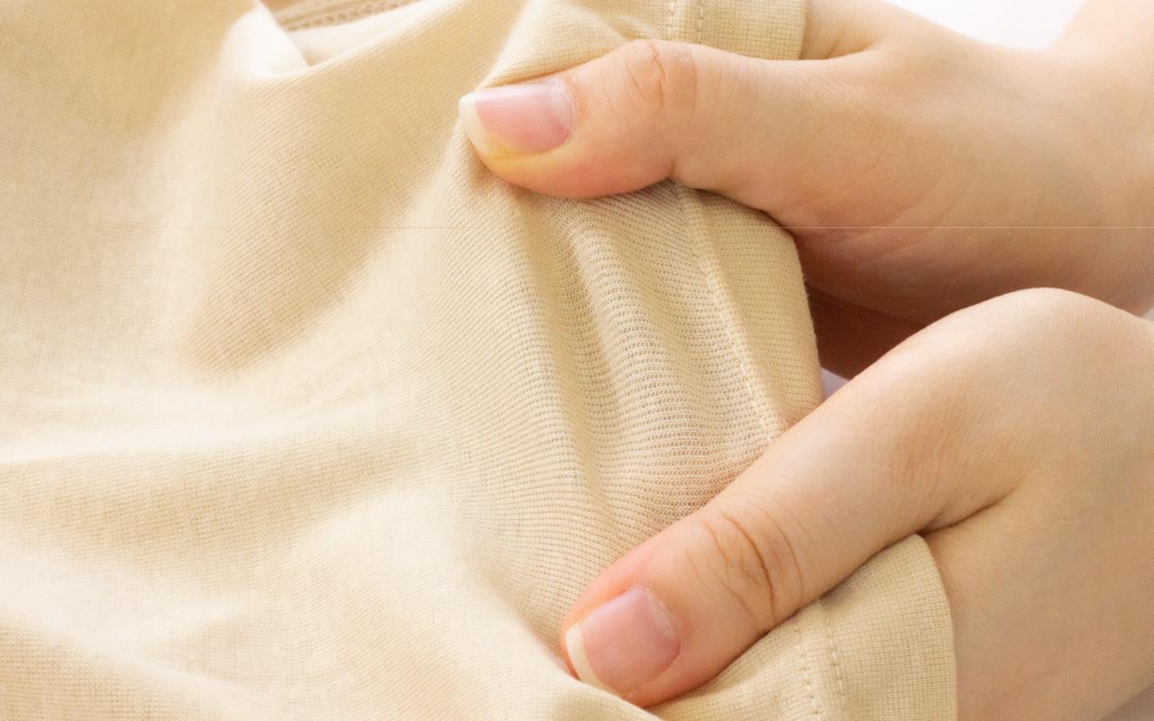 肌に優しい柔らかな綿100%