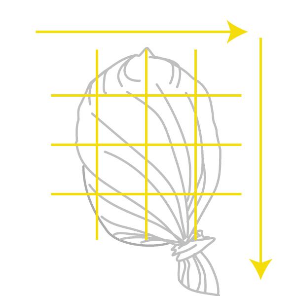 頭皮に直接クリームで線を引くようなイメージ